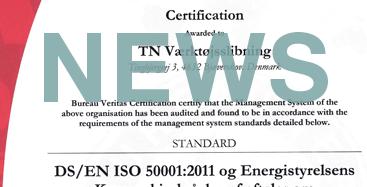 Så er TN værktøjsslibning blevet energi-certificeret til ISO50001